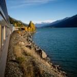skeena train, via rail, canmore, banff