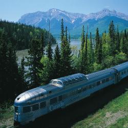 skeena train, via rail, jasper, lake louise
